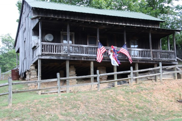 recreated Butcher Holler home