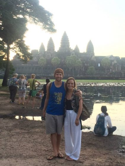 Grant and Rachel in Siam Reap