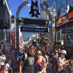 Grant and Rachel in Harajuku Tokyo