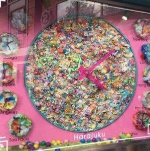 Candy clock in Harajuku Tokyo