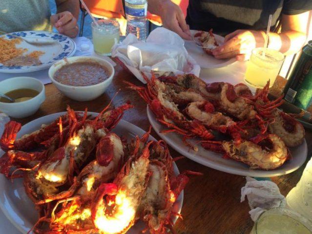 Baja lobster in Puerto Nuevo