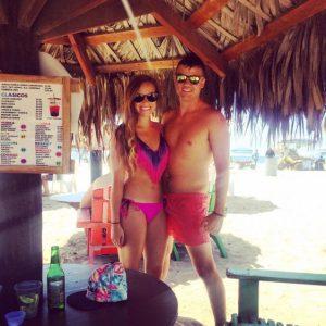 Grant and Rachel at Rosarito Beach