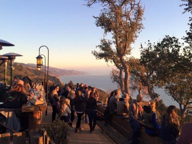 A California sunset happy hour near Julia Pfeiffer Burns State Park