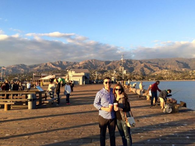 Grant and Rachel in Santa Barbara