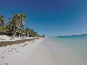 Beautiful beach in Sian Ka'an Biosphere Reserve