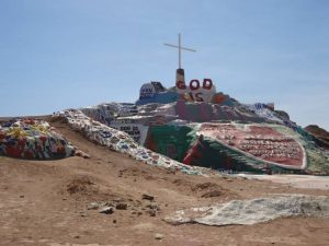 A view of the painted salvation mountain