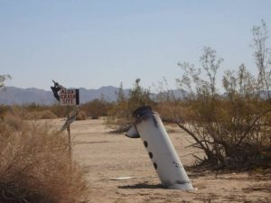 Junk in the desert