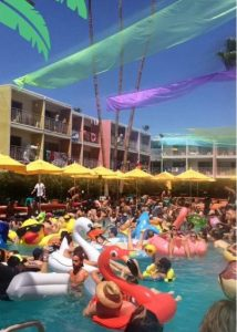 Splash House pool party at the Saguro Hotel in Palm Springs
