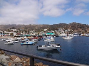 Avalon Harbor on Catalina Island makes a great California Weekend Getaway