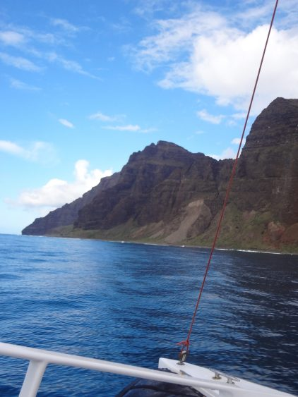 A view Captain Andy's Napali Sunset Sai