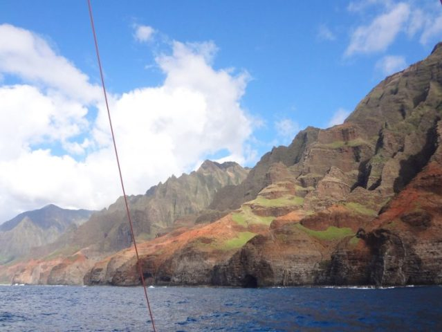A view from Captain Andy's Napali Sunset Sail