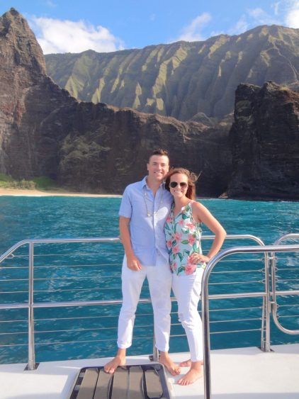 Grant and Rachel on Captain Andy's Napali Sunset Sai