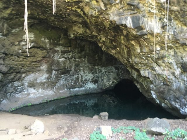 A cave near Ke'e Beach in Ha'ena State Park