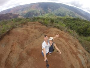 Grant and Rachel at Waimea Canyon on Kauai