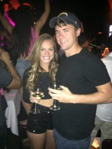 Grant and Rachel at Lavo brunch