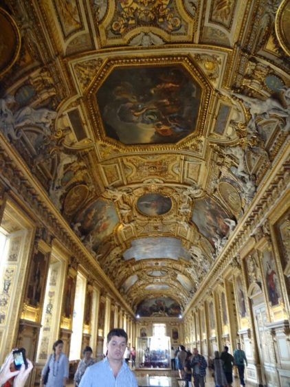 Inside of the Louvre