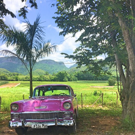 Old car in Viñales Cuba