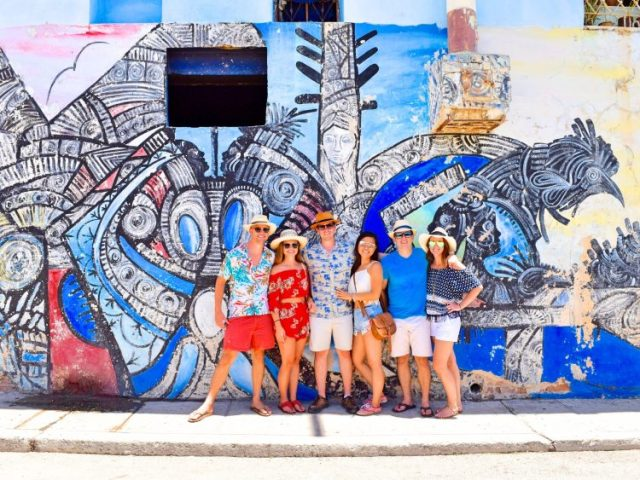 Grant Rachel and friends in Havana Cuba