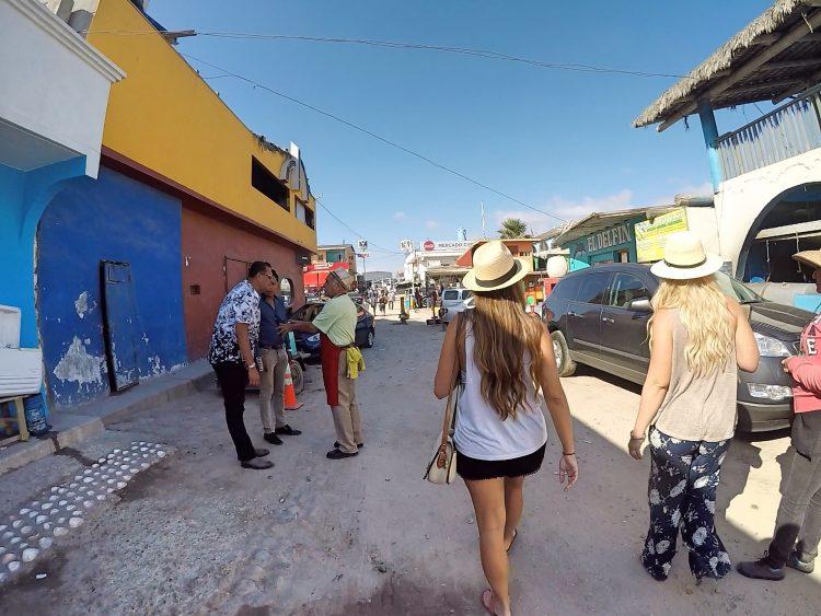 Rachel walking in Popotla
