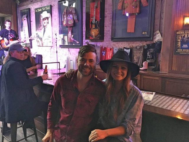 Grant and Rachel in a Nashville Honky Tonk