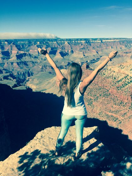 Rachel looking out over the Grand Canyon