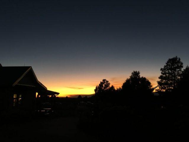 sunset grand canyon village