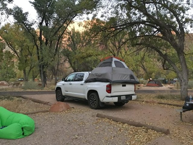 moving the tent in Zion