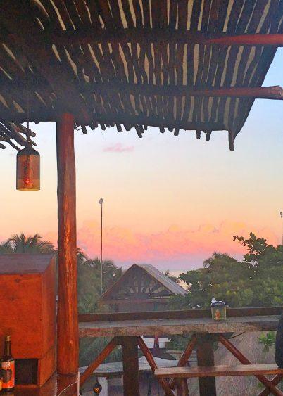 sunset tulum_