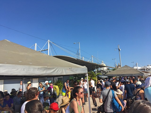 crowded boat dock in cartagena