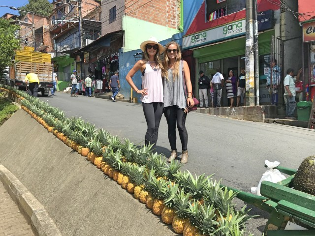 pineapples in medellin