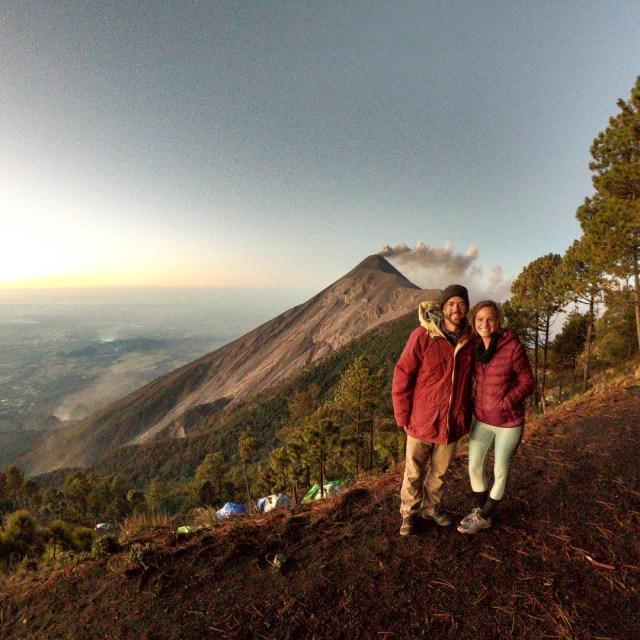 camping at volcano acatenango