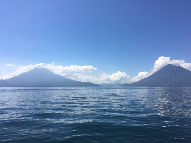 mountains lake atitlan