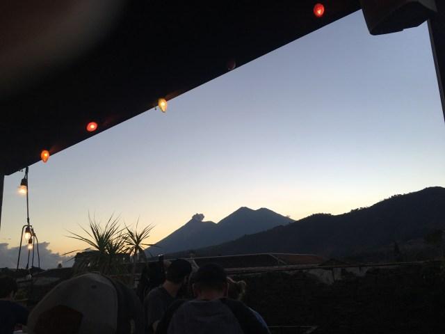 antigua brewery volcano views