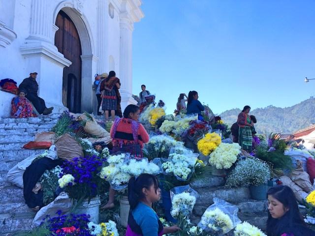 flower vendors at chichi church
