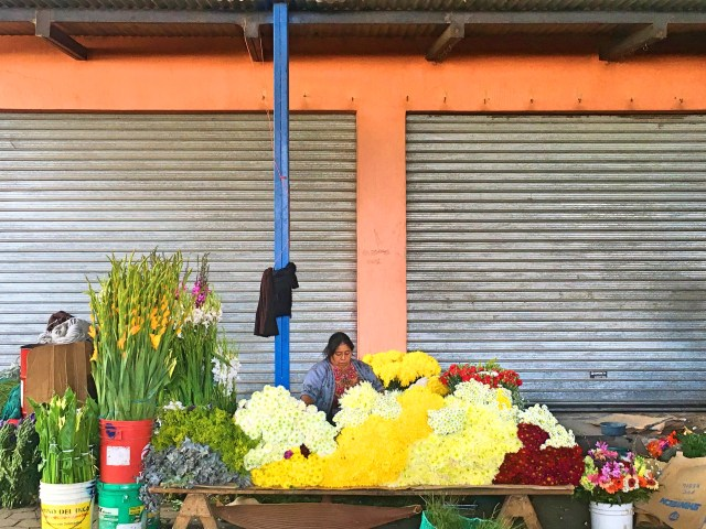 flowers at antigua market