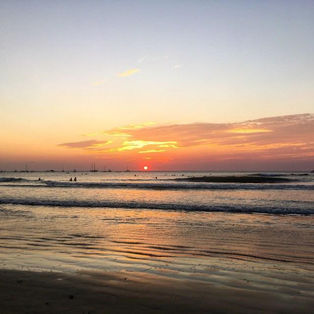 sunset at tamarindo