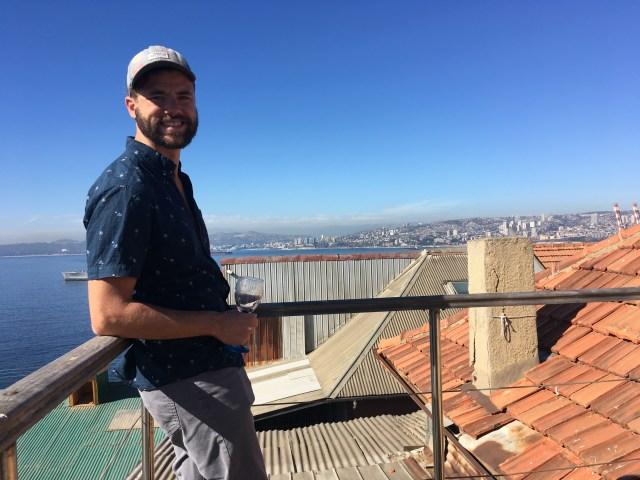 balcony at airbnb valparaiso