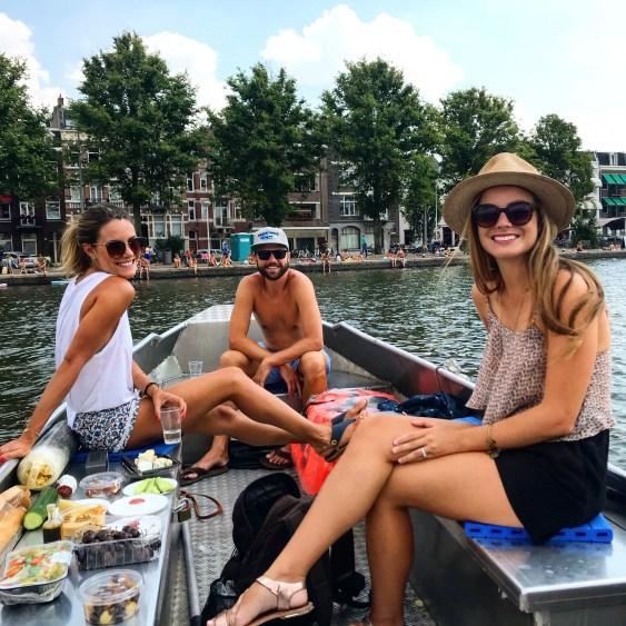 amsterdam boat in summer