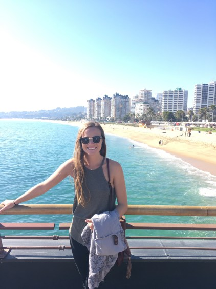 Rachel at vina del mar chile pier