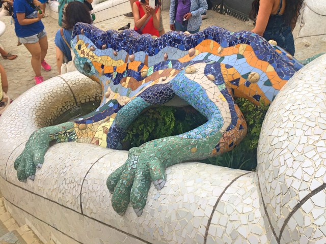 lizard at park guell