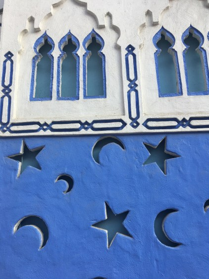 walls in chefchaouen