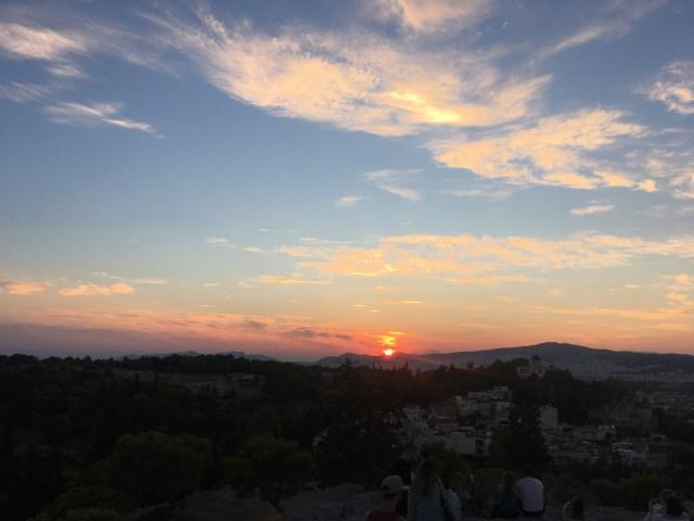 athens greece sunset