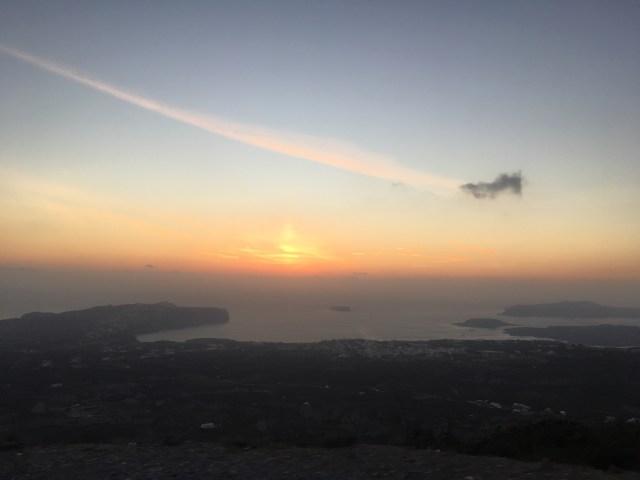 Profítis Ilías monastry sunset