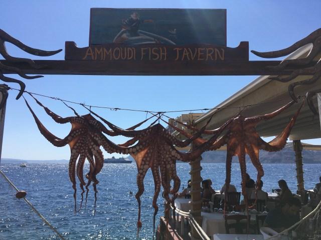 dried octopus in santorini