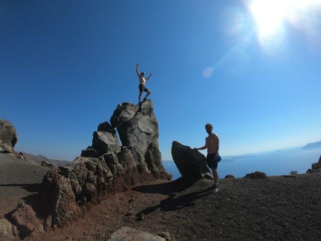 hiking santorini
