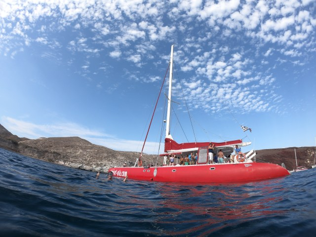 santorini sailboat