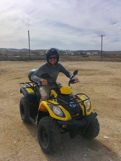 riding atv in mykonos