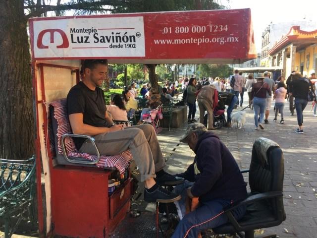 shoeshine mexico city