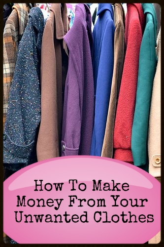 How to make money from your unwanted clothes