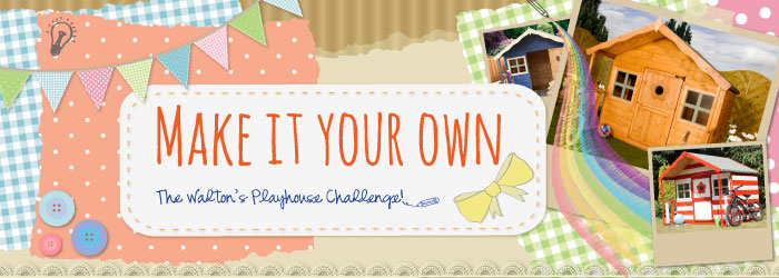 thrifty playhouse decorating
